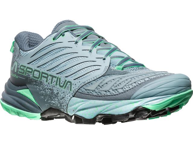 La Sportiva Akasha Running Shoes Women Stone Blue/Jade Green